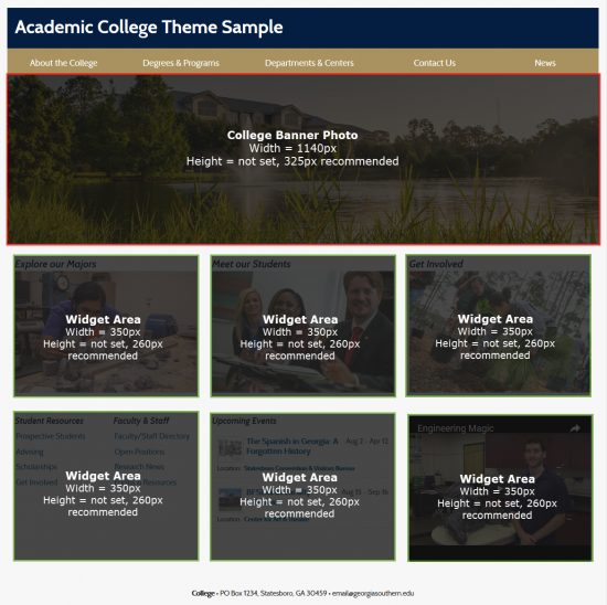 Academic College New Home - Dimensions