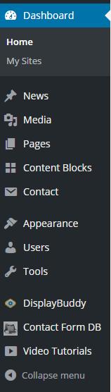 Dashboard menu