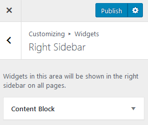 Screenshot - WP Customer Publish button with gear icon