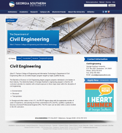 Department theme home page